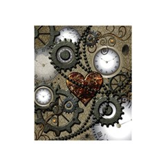 Steampunk With Clocks And Gears And Heart Shower Curtain 48  x 72  (Small)