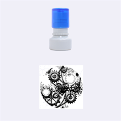 Steampunk With Clocks And Gears And Heart Rubber Round Stamps (small)