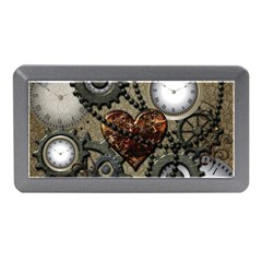 Steampunk With Clocks And Gears And Heart Memory Card Reader (Mini)