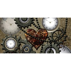 Steampunk With Clocks And Gears And Heart You Are Invited 3d Greeting Card (8x4)