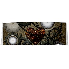 Steampunk With Clocks And Gears And Heart Body Pillow Cases Dakimakura (two Sides)