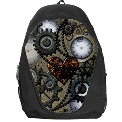 Steampunk With Clocks And Gears And Heart Backpack Bag