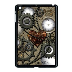 Steampunk With Clocks And Gears And Heart Apple iPad Mini Case (Black)