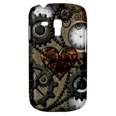 Steampunk With Clocks And Gears And Heart Samsung Galaxy S3 MINI I8190 Hardshell Case