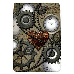 Steampunk With Clocks And Gears And Heart Flap Covers (L)