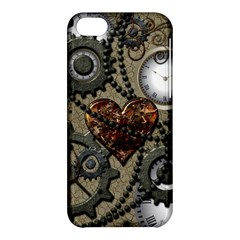 Steampunk With Clocks And Gears And Heart Apple iPhone 5C Hardshell Case
