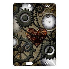 Steampunk With Clocks And Gears And Heart Kindle Fire HD (2013) Hardshell Case
