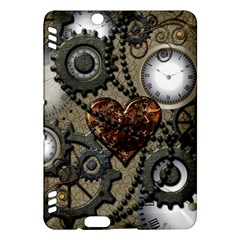 Steampunk With Clocks And Gears And Heart Kindle Fire HDX Hardshell Case