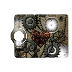 Steampunk With Clocks And Gears And Heart Kindle Fire HD (2013) Flip 360 Case