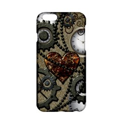 Steampunk With Clocks And Gears And Heart Apple iPhone 6/6S Hardshell Case