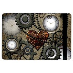 Steampunk With Clocks And Gears And Heart Ipad Air 2 Flip