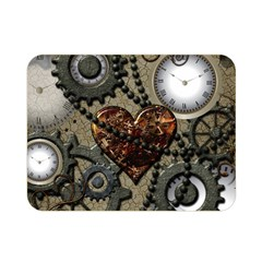 Steampunk With Clocks And Gears And Heart Double Sided Flano Blanket (mini)