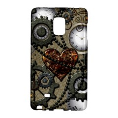 Steampunk With Clocks And Gears And Heart Galaxy Note Edge