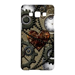 Steampunk With Clocks And Gears And Heart Samsung Galaxy A5 Hardshell Case