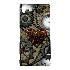Steampunk With Clocks And Gears And Heart Sony Xperia Z3