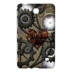 Steampunk With Clocks And Gears And Heart Samsung Galaxy Tab 4 (7 ) Hardshell Case