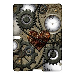 Steampunk With Clocks And Gears And Heart Samsung Galaxy Tab S (10.5 ) Hardshell Case