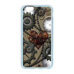Steampunk With Clocks And Gears And Heart Apple Seamless iPhone 6 Case (Color)