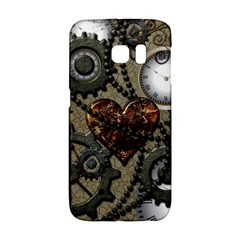 Steampunk With Clocks And Gears And Heart Galaxy S6 Edge