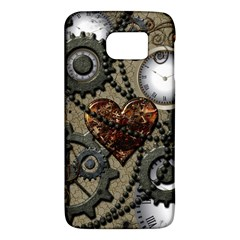 Steampunk With Clocks And Gears And Heart Galaxy S6