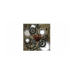Steampunk With Clocks And Gears And Heart Satin Wrap