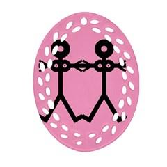 Love Women Icon Oval Filigree Ornament (2-Side)
