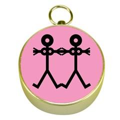 Love Women Icon Gold Compasses