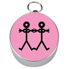Love Women Icon Silver Compasses