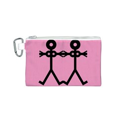 Love Women Icon Canvas Cosmetic Bag (S)