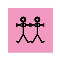 Love Women Icon Small Satin Scarf (Square)