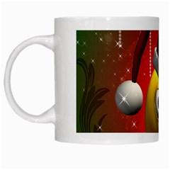 Funny Christmas Smiley White Mugs