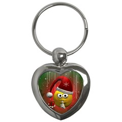 Funny Christmas Smiley Key Chains (Heart)