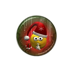 Funny Christmas Smiley Hat Clip Ball Marker (10 pack)