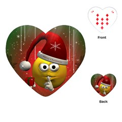 Funny Christmas Smiley Playing Cards (Heart)