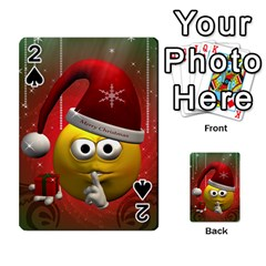 Funny Christmas Smiley Playing Cards 54 Designs