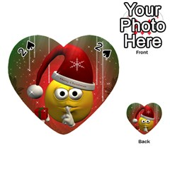 Funny Christmas Smiley Playing Cards 54 (Heart)