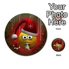 Funny Christmas Smiley Multi-purpose Cards (Round)