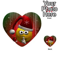 Funny Christmas Smiley Multi Purpose Cards (heart)