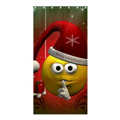 Funny Christmas Smiley Shower Curtain 36  x 72  (Stall)