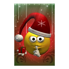 Funny Christmas Smiley Shower Curtain 48  x 72  (Small)
