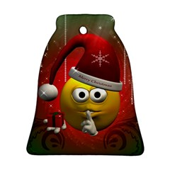 Funny Christmas Smiley Ornament (Bell)