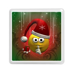 Funny Christmas Smiley Memory Card Reader (Square)