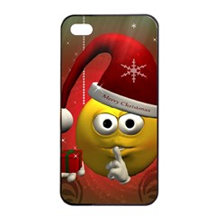 Funny Christmas Smiley Apple Iphone 4/4s Seamless Case (black)
