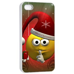 Funny Christmas Smiley Apple Iphone 4/4s Seamless Case (white)