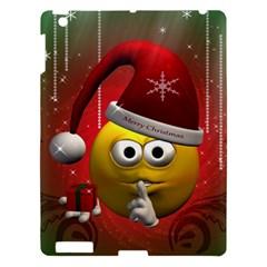 Funny Christmas Smiley Apple iPad 3/4 Hardshell Case