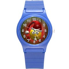 Funny Christmas Smiley Round Plastic Sport Watch (S)