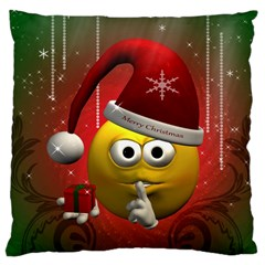 Funny Christmas Smiley Large Cushion Cases (One Side)
