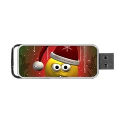 Funny Christmas Smiley Portable USB Flash (Two Sides)