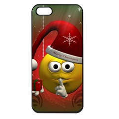 Funny Christmas Smiley Apple iPhone 5 Seamless Case (Black)