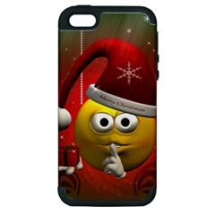 Funny Christmas Smiley Apple iPhone 5 Hardshell Case (PC+Silicone)